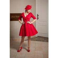 La Fille en Rouge Collar Dress - $229.00