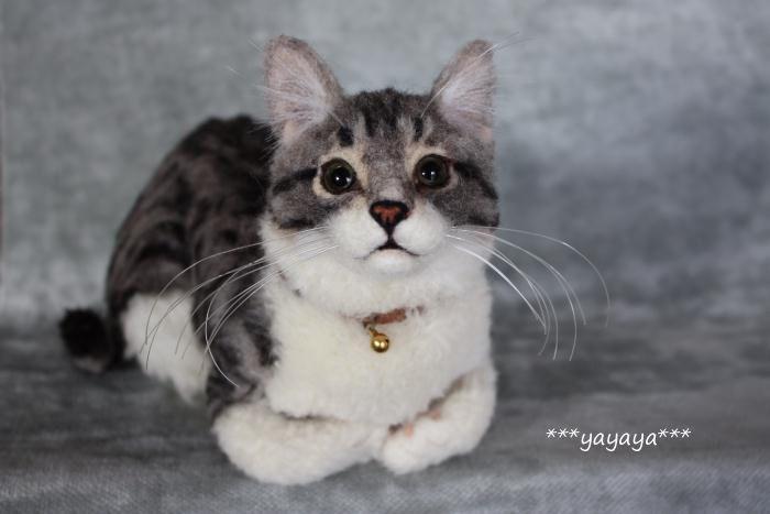 イメージ1 - 香箱座りのサバトラ猫完成しました☆の画像 - ***yayaya*** 羊毛フェルトのおチビちゃん - Yahoo!ブログ