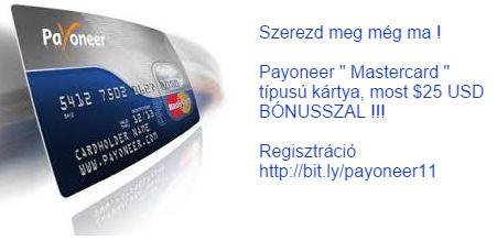 Igényeljen #Payoneer kártyát és kapjon $25 USD-t bónuszként http://bit.ly/payoneer11