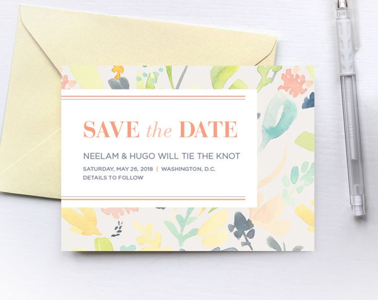This Save the Date is perfect for a garden or spring wedding! Not for a wedding? That's okay, this would still be a wonderful invitation for a wedding shower, baby shower, or birthday party. Send me the text you would like to include, and I will work with you to make it perfect. This piece is formatted to fit perfectly into A6 envelopes! It can be trimmed to A6, postcard size, which is 4.5 x 6.25 inches. If you would like a different size, such as A7 (5x7 inches), please let me know in the…