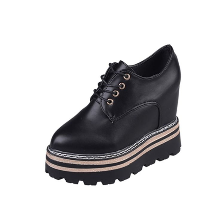 Buy Women Platform Shoes Patent Leather Lace Up Pointed Toe Brand Female Footwear Shoes for Women Creepers. Click visit to read descriptions