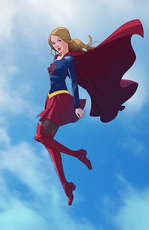 New Costume For Cbs Supergirl Tv Show Starring Melissa -9801