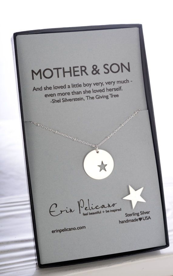 Mother Son Jewelry. Mother of the Groom Gift. Inspirational Gift. Mom Necklace. Personalized Gifts for Mom. Push Present.