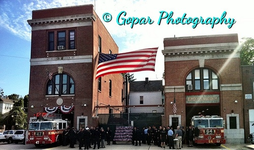 Fire Department Station In Castle Hill Bronx New York