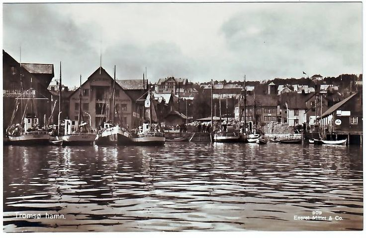 Troms fylke Tromsø hamn. Enerett Mittet & Co.