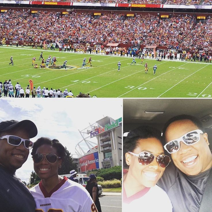 Celebrating my wife's #birthday at the #redskins #cowboys game! Happy birthday @mommytrackfit! Love you! @redskins @dallascowboys #redskinsnation #cowboysnation #football #footballseason #nfl #filmcritic #sports #httr