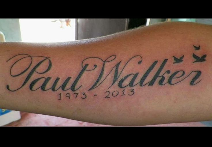 Paul Walker tattoo