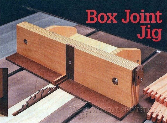 Box Joint Jig Plans - Joinery Tips, Jigs and Techniques - Woodwork, Woodworking, Woodworking Tips, Woodworking Techniques