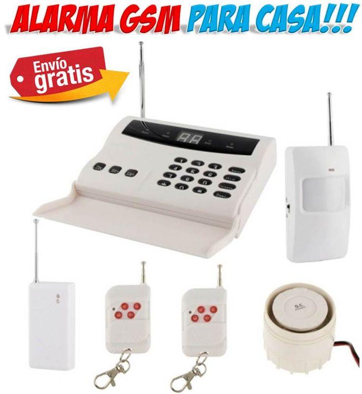 Alarmas para casa faciles de instalar sin cuotas mensuales. Sistema de seguridad GSM con tarjeta SIM que te avisa al telefono movil si entran a robar en tu hogar. Incluye detectores de movimiento para puertas y ventanas y una potente sirena para ahuyentar a los ladrones.