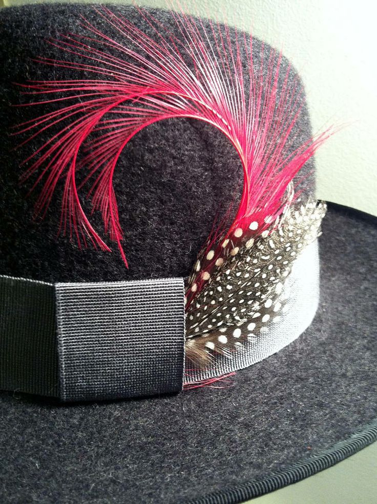 Charcoal fedora with a surprisingly vibrant trim ;) fifilabelle xx