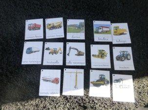 Carte de nomenclature Engins de chantier et agricoles