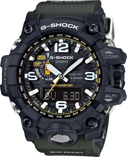 G-Shock Master of G GWG1000-1A3 A great watch with Compass, Altimeter, Atomic Timekeeping, and loads of other goodies. No sunrise/sunset data nor moon phase data