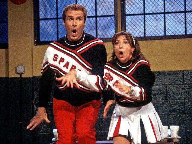 """Will Ferrell & Cheri Oteri as 'The Spartan Cheerleaders' on """"SNL"""""""