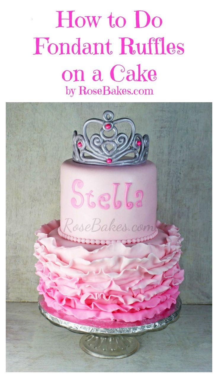 Cake Decorating Ruffles : 17 Best ideas about Fondant Ruffles on Pinterest Ruffle ...
