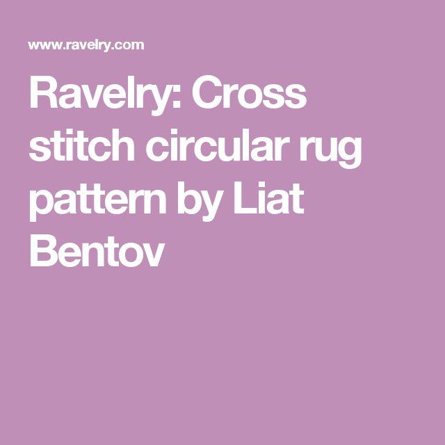 Ravelry: Cross stitch circular rug pattern by Liat Bentov