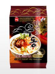 3,88€ 2 Raciones de Fideos Udon Coreanos Surimi &  katsuobushi