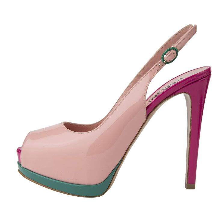 Colourful #Pollini lack high heels - perfect for a summer night out.