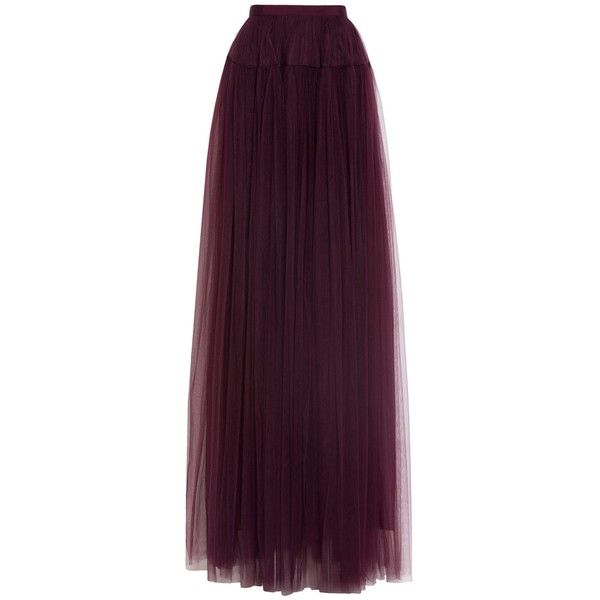 Delpozo Tulle Maxi Evening Skirt ($2,797) ❤ liked on Polyvore featuring skirts, burgundy, maxi length skirts, long maxi skirts, short maxi skirt, purple maxi skirt and holiday skirts