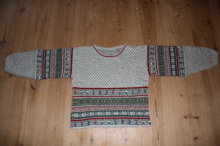 Fair Isle inspired sweater. My own pattern.