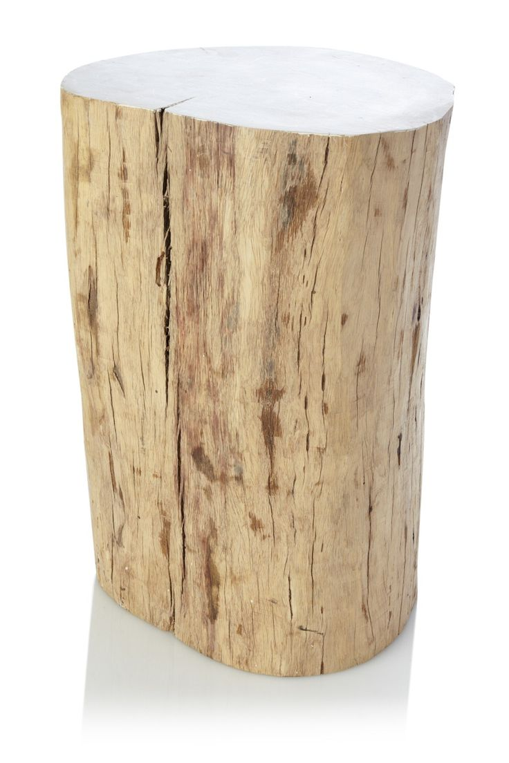 Tree stump side table - Tree Trunk Side Table Occasional Furniture French Connection D24 X H45