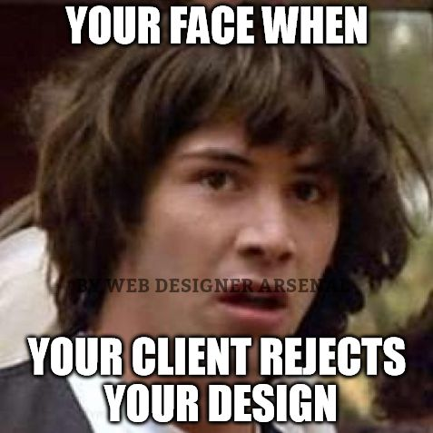 Watch out. Your face could be next. #webdesignertrolls