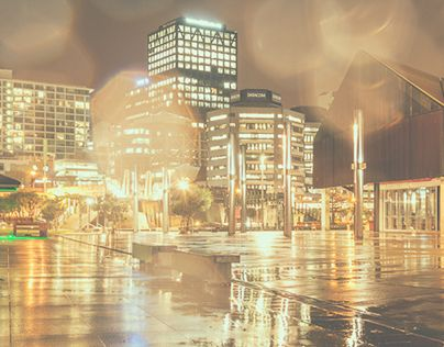 """Check out new work on my @Behance portfolio: """"A wet night in Wellington, NZ"""" http://be.net/gallery/45732525/A-wet-night-in-Wellington-NZ"""