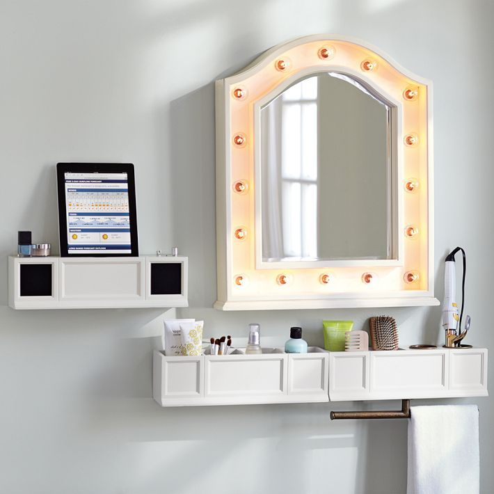 Vanity Mirror Storage And Speaker Pbteen