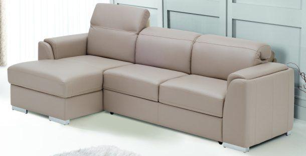 Moderne hoekbank voorzien van verstelbare hoofdsteunen verkrijgbaar in diverse kleuren stof lederlook of echt leder. Ook in spiegelbeeld leverbaar