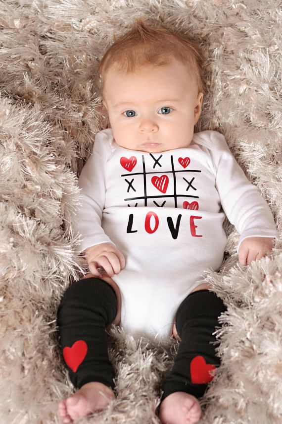 Baby Boy Valentines Shirt Baby Boy Valentines Day Outfit Tic Tac Toe