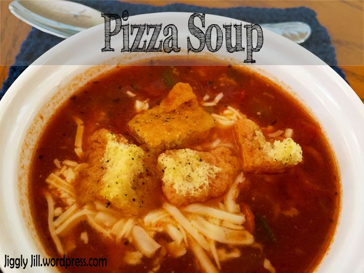 Pizza Soup recipe from Jiggly Jill. Love her take on a comforting but healthier recipe. And, her blog is amazing and hilarious!!
