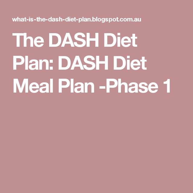 dash diet meal plan pdf