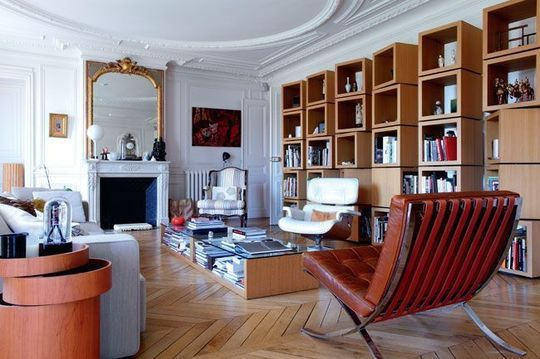16 best images about idees bibliotheque salon on pinterest shelves tvs and corner shelves. Black Bedroom Furniture Sets. Home Design Ideas