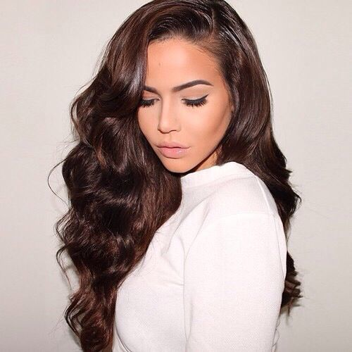 253 best chocolate brown hairextensions images on pinterest deluxe chocolate brown 4 remy clip in extensions 22 inch 220 grams pmusecretfo Gallery