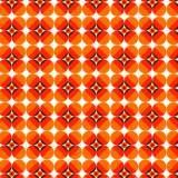 Behang Vintage Style - Retro Dots - rood/oranje