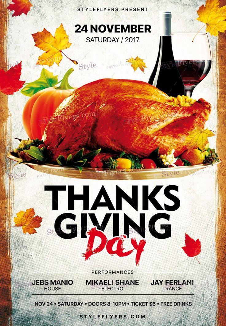 Thanksgiving Day Flyers Keninamas