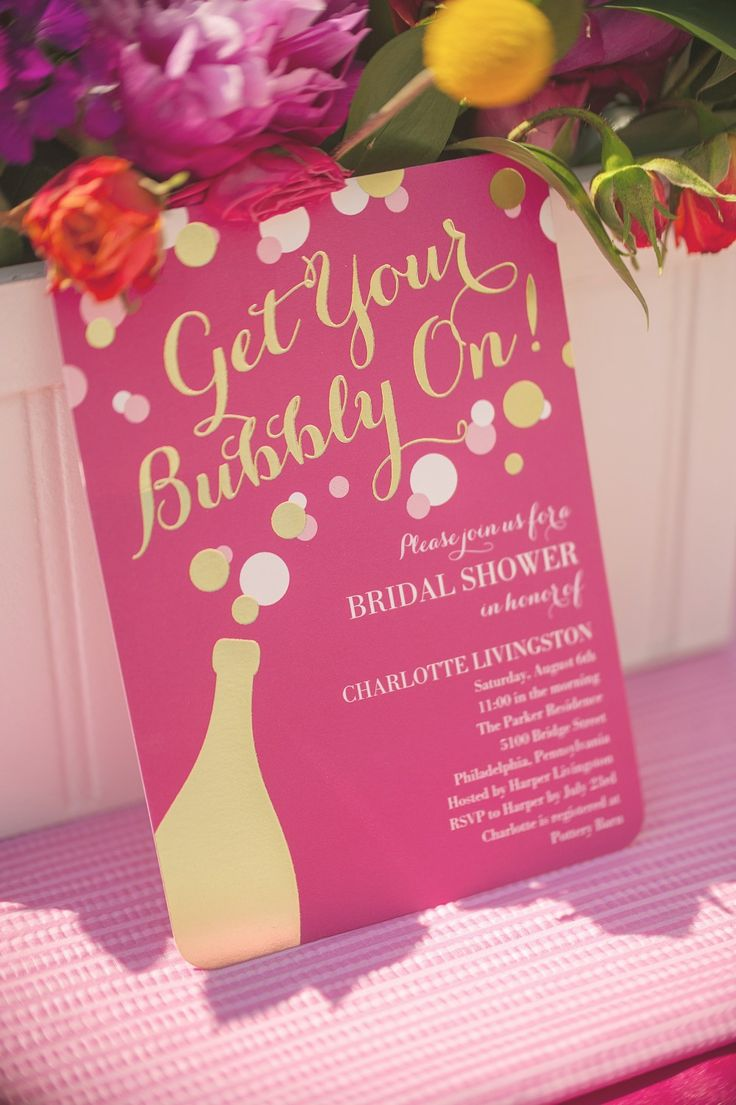 what to write in my bridal shower thank you cards%0A Celebrate your upcoming wedding with a bubbly themed bridal shower
