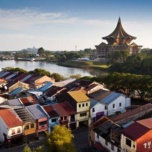 Kuching, Malaysia is the city in Sarawak, the southern part of Malaysian Borneo. Image courtesy of Richard IAnson.