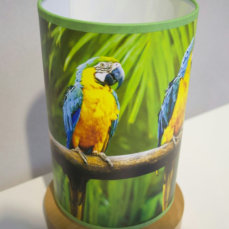 Amazon lamp with parrots #fotolampy