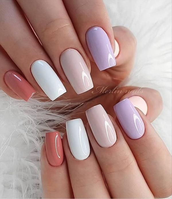 50 Short Gel Square Nails For You Latest Fashion Trends For Girls In 2020 Square Nails Short Square Nails Classic Nails