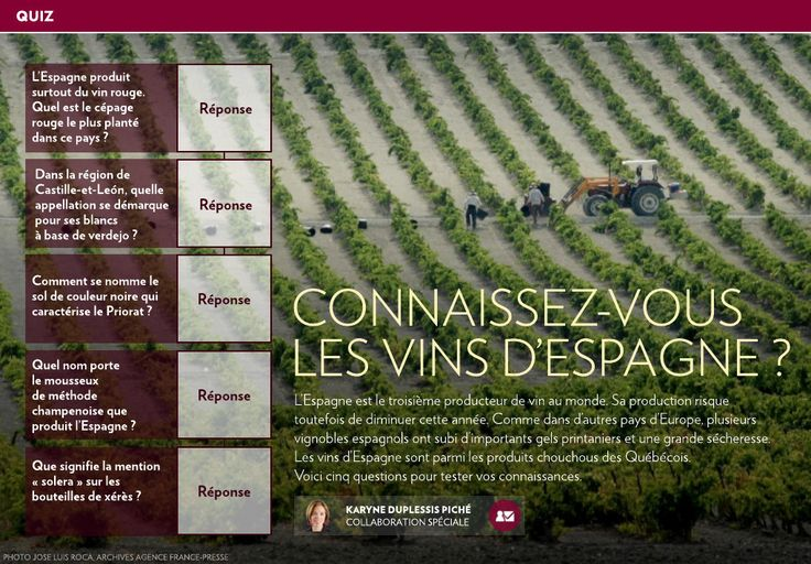Connaissez-vous les vins d'Espagne ? - La Presse+