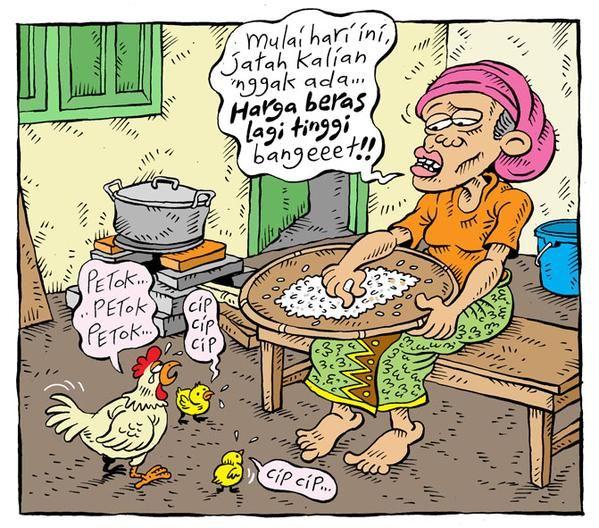 Mice Cartoon, Rakyat Merdeka - Februari 2015: Harga Beras Lagi Tinggi
