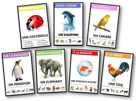 Jeu des 7 familles sur les animaux  gratuit à imprimer
