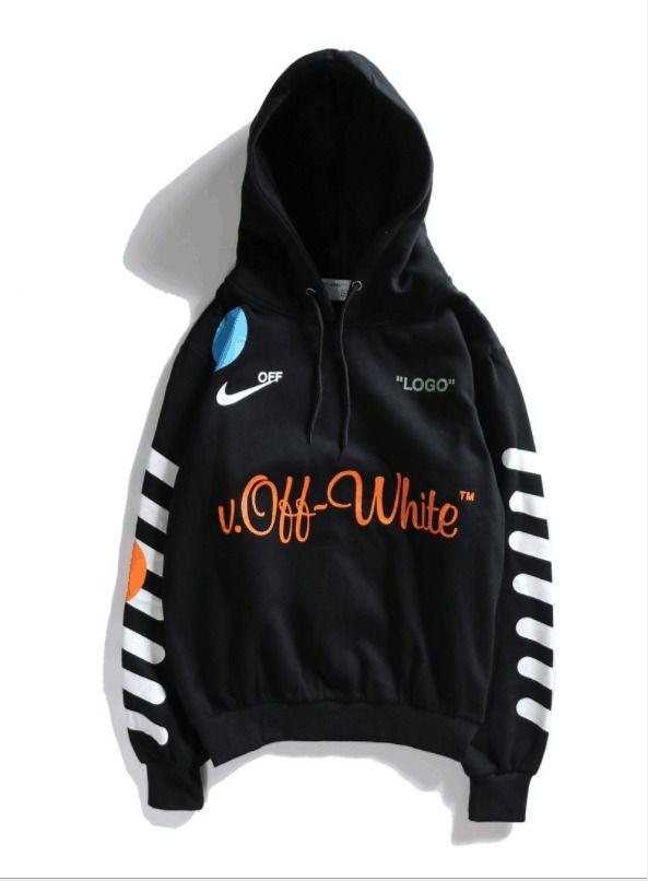 Size S-XXL Hot! Unisex OFF-White Joint World Cup back 33 hoodie White-Black