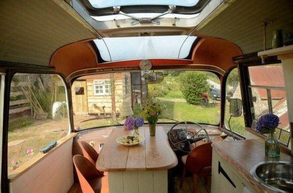 majestic bus tiny house conversion 009 600x397   Majestic Bus to Tiny Home Conversion