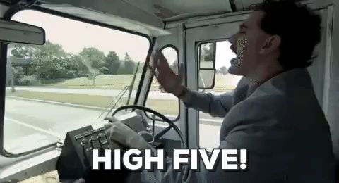 nice great high five sacha baron cohen borat borat10yr #humor #hilarious #funny #lol #rofl #lmao #memes #cute