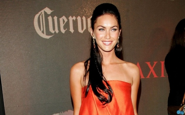 Megan Fox half-up ponytail