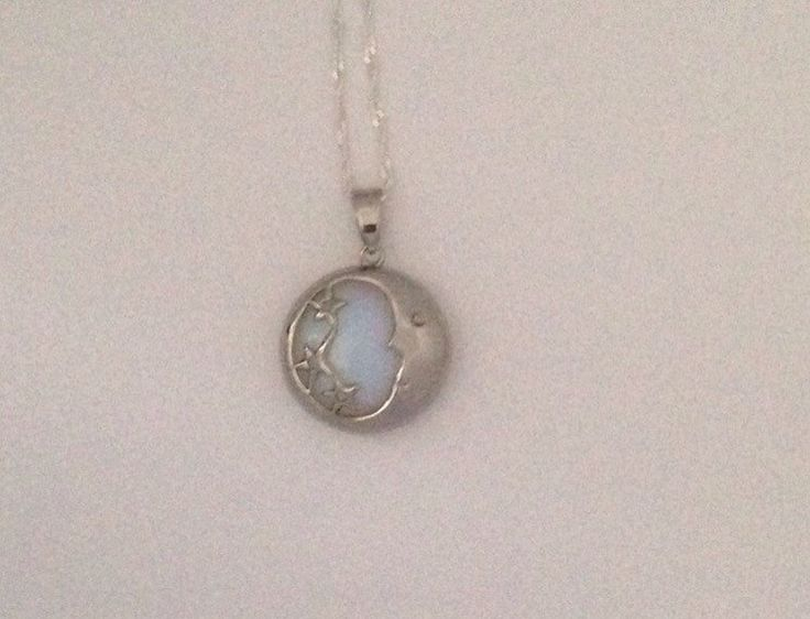 Silver Opal Moon Necklace by HigherdivineJewels on Etsy https://www.etsy.com/ca/listing/277017226/silver-opal-moon-necklace