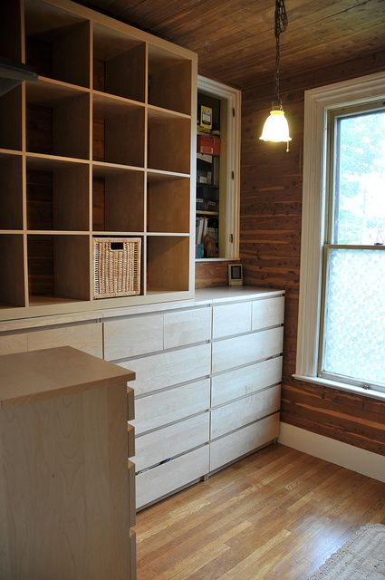 ikea malm dresser and expedit bookcase