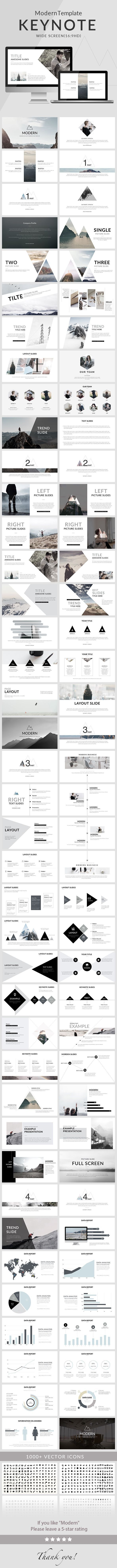 Modern - Clean trend Keynote Template - Creative Keynote Templates