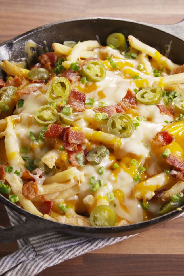Skillet Cheese Fries. Must try, game day. Add chili too.
